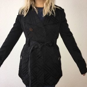 Guess by Marciano Black Trench Style Coat